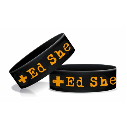 Ed Sheeran Black Silicone Wristband