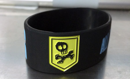All Time Low Silicone Rubber Wristband