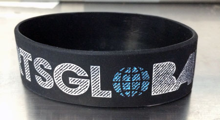 Hot Hearts Global Rubber Wristband