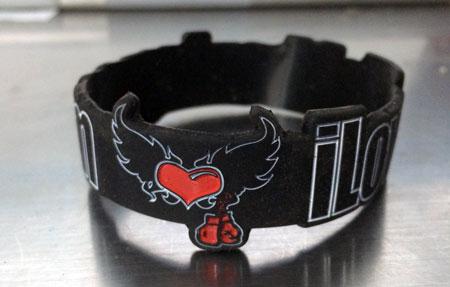 Kickboxing Silicone Rubber Wristband