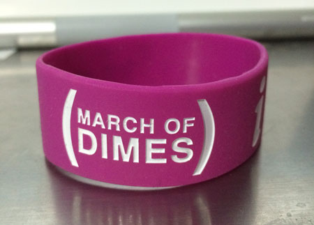 March Of Dimes Silicone Rubber Wristband