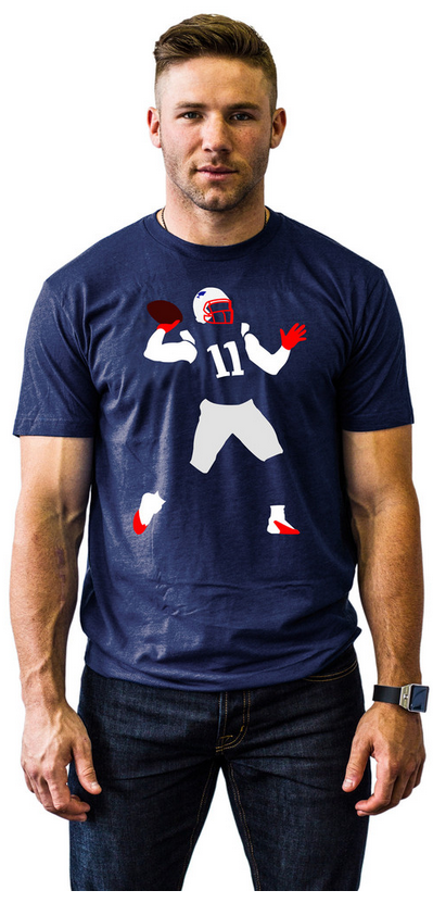 Julian Edelman TD Pass T-Shirt worn by Julian Edelman