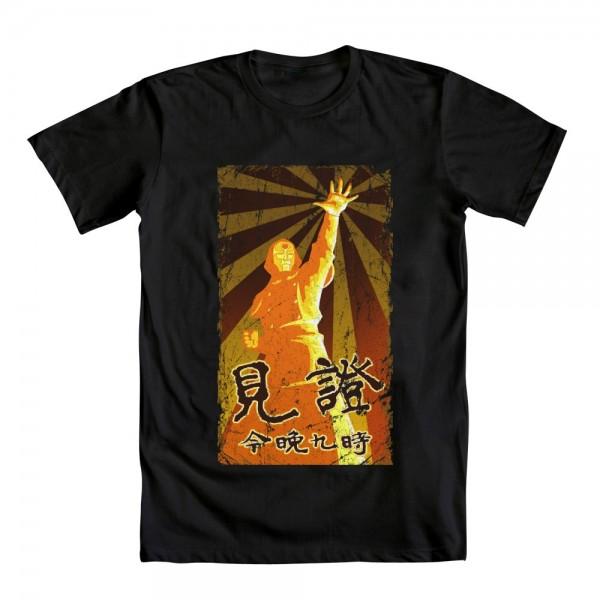 amon hand raised legend of korra t-shirt