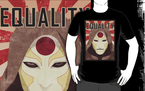 equality with Amon's face legend of korra t-shirt