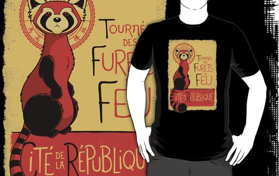 Les Furets de Feu French fire ferrets legend of korra t-shirt
