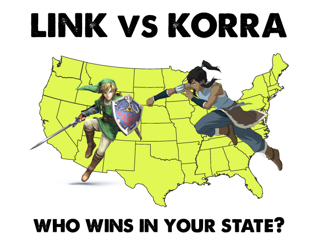 link versus korra who wins in your state map