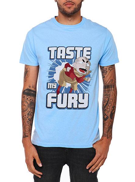 taste my fury legend of korra t-shirt