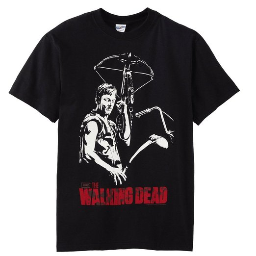 Daryl Dixon t-shirt featuring Daryl with crossbow and The Walking Dead