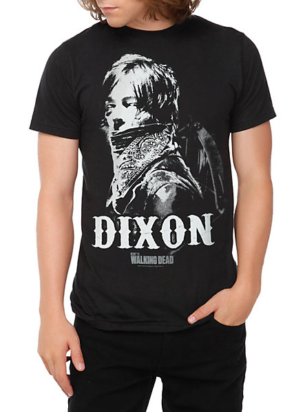 Daryl Dixon T-Shirt featuring Daryl peering over his bandana.