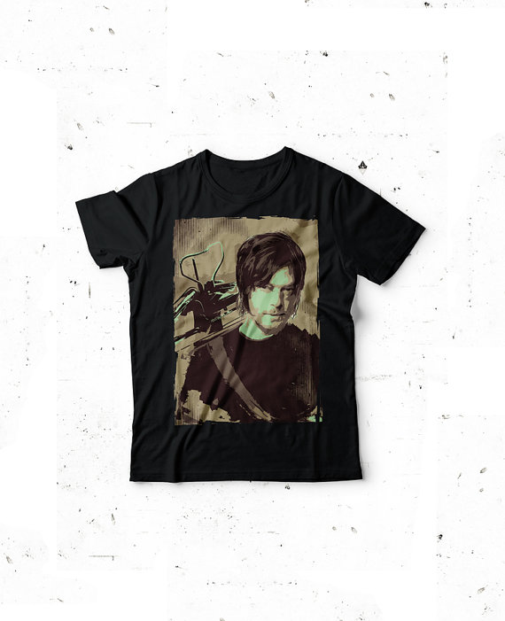 Daryl Dixon t-shirt featuring Daryl with crossbow