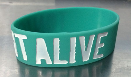 Tonight Alive Silicone Rubber Wristband