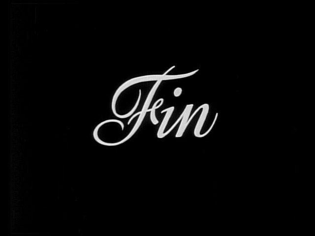 fin in cursive text on black background