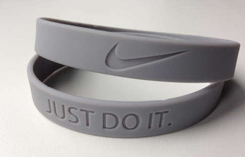 nike baller band in gray