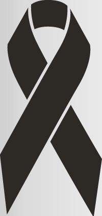 black colored awareness ribbon