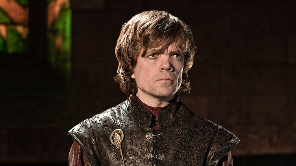 Tyrion Lannister from Game of Thrones with concerned look on face