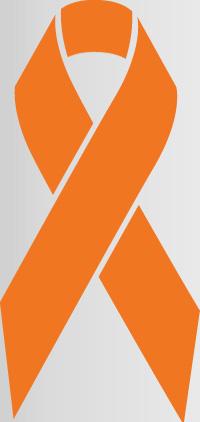 orange colored awareness ribbon