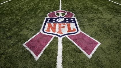 breast cancer and nfl 50 yard line logo