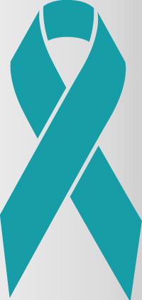 teal colored awareness ribbon