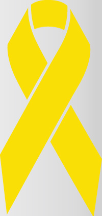 ribbon in the color of yellow